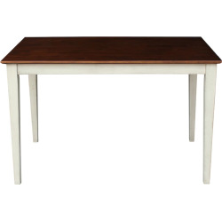 International Concepts 48″ Long Rectangle Dining Table, Brown