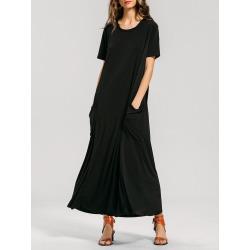 Formal Pockets Maxi Dress