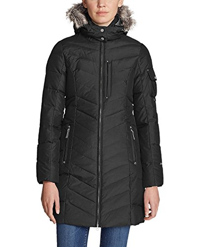 Eddie Bauer Women's Sun Valley Down Parka, Black Regular S Regular