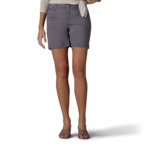 LEE Women's Straight Fit Tailored Chino Short, Vintage Green/Gray, 10