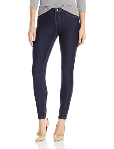 HUE Women's Essential Denim Leggings, Deep Indigo Wash, X-Large