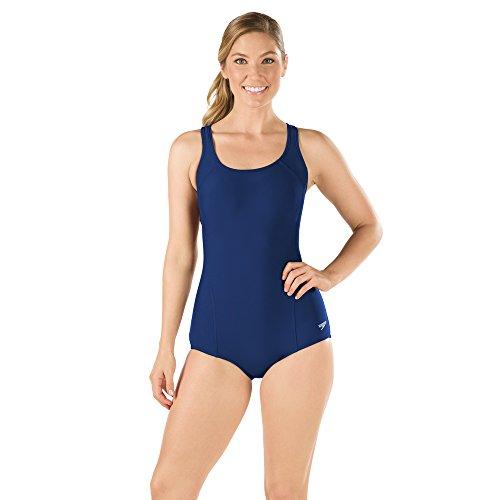 Speedo Women's Powerflex Conservative Ultraback Swimsuit, Nautical Navy, 6