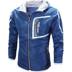 Color Block Full Zip Windbreaker Jacket