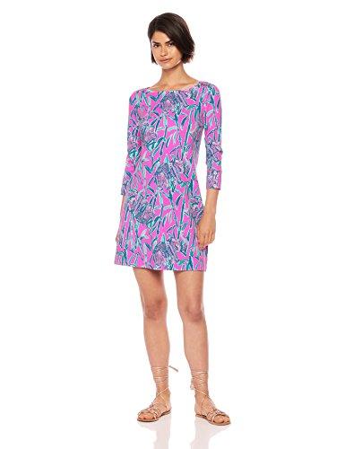 Lilly Pulitzer Women's UPF 50+ Sophie Dress, Mandevilla Pink Extra Lucky, L