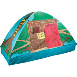 Pacific Play Tents Tree House Bed Tent, Multicolor
