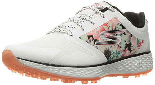 Skechers Performance Women's Go Golf Birdie Tropic Golf Shoe, White/Multi Tropic, 7 M US