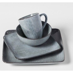 solene square stoneware 16pc dinnerware set gray project 62 - Solene Square Stoneware 16pc Dinnerware Set Gray - Project 62
