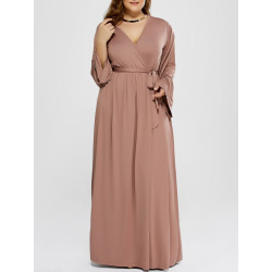 Plus Size Long Sleeve Empire Waist Dress