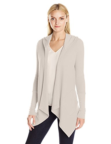 Splendid Women's Thermal Wrap Hooded Cardigan, Swan, Large