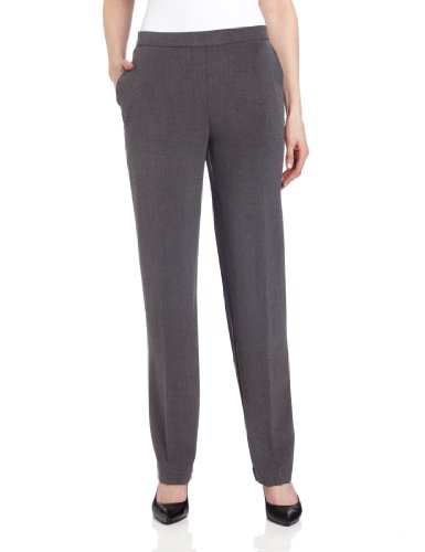 Briggs New York Women's All Around Comfort Pant,Heather Grey,12