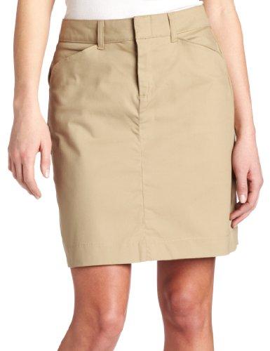 Dickies Women's 20 Inch Stretch Twill Skirt, Desert Sand, 14