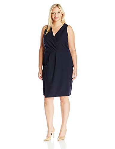 MYNT 1972 Women's Plus Size Overlay Dress, Black Iris, 14W