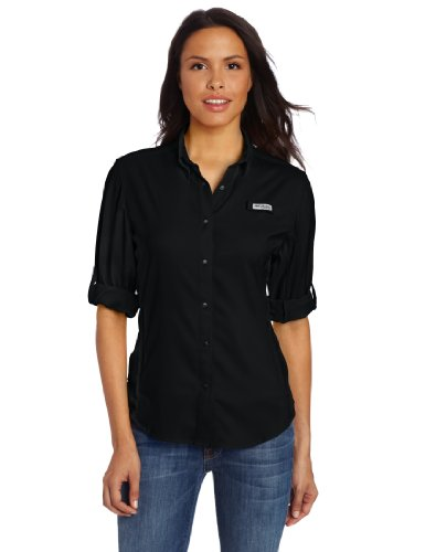 Columbia Sportswear Women's Plus-Size Tamiami II Long Sleeve Shirt, 1X, Black