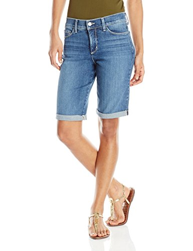 NYDJ Women's Briella Shorts in Stretch Indigo Denim, Heyburn, 16