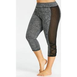 Plus Size Sheer Capri Leggings