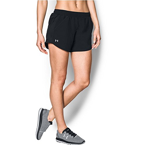 Under Armour Women's Fly Shorts, Black/Reflective, Small