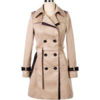 Anne Klein Women's Plus-Size Classic Double-Breasted Trench Coat Plus, British Khaki, 2X