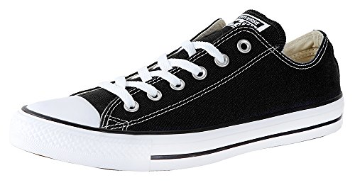 Converse Unisex Chuck Taylor All Star Ox Basketball Shoe Black 10.5 B(M) US Women/8.5 D(M) US Men