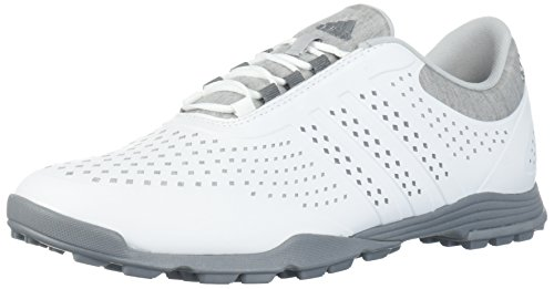 adidas Women's Adipure Sport Golf Shoe, White/Grey, 7 Medium US