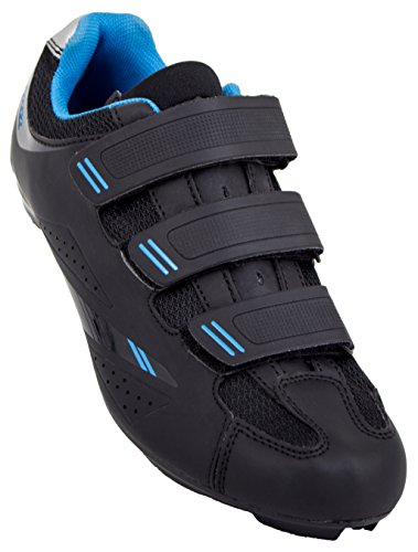 Tommaso Pista Women's Road Bike Cycling Spin Shoe Dual Cleat Compatibility- Black/Blue – 39