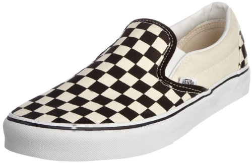 Vans Unisex Classic Slip-On (Checkerboard) Blk&whtchckerboard/Wht Skate Shoe 8.5 Men US / 10 Women US