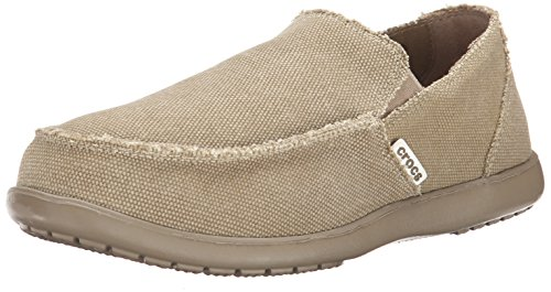 Crocs Men's Santa Cruz Slip-On Loafer,Khaki/Khaki,12 (D) M US