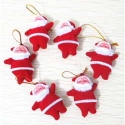 6PCS Christmas Santa Hanging Decoration