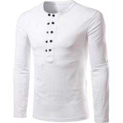 Button Up Henley Shirt