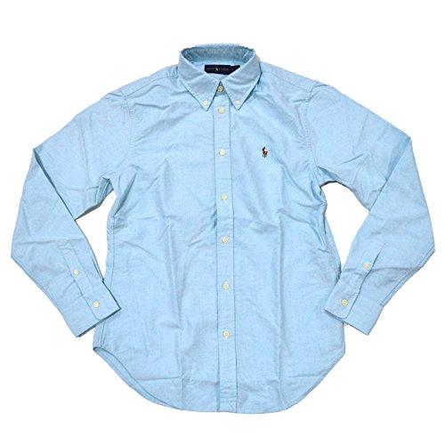 Polo Ralph Lauren Women's Classic Fit Oxford Button Down Shirt, Aegean Blue, L