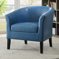 Linon Sadie Club Chair, Blue