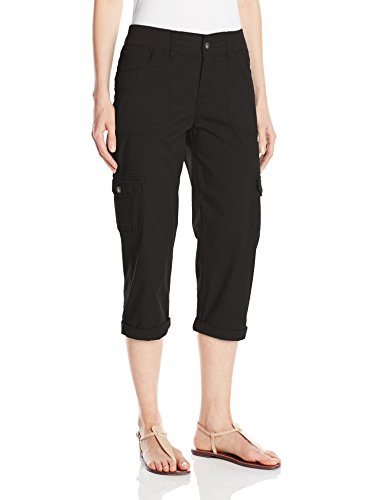 LEE Women's Relaxed Fit Austyn Knit Waist Capri Pant, Black, 14