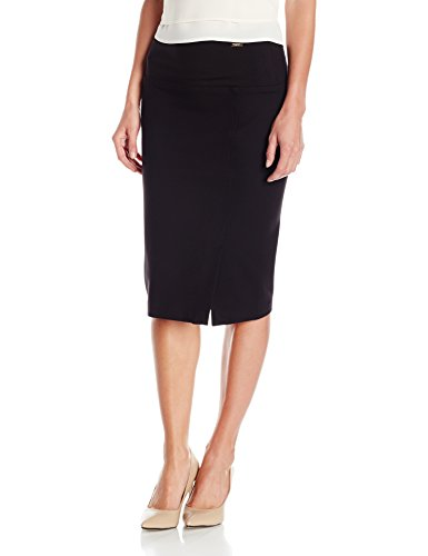 Ivanka Trump Women's Tummy Control Midi Skirt, Black, Medium