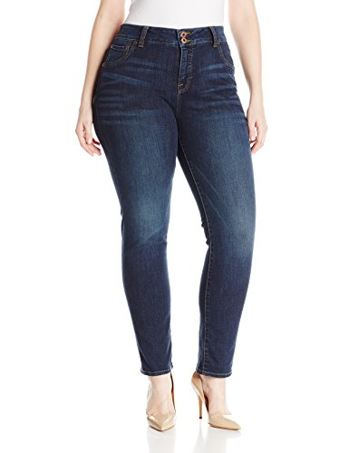 Lucky Brand Women's Plus Size High Rise Emma Straight Jean in Goleta