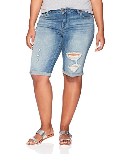 Lucky Brand Women's Plus Size Mid Rise Ginger Bermuda Short, Indian Hills, 18W