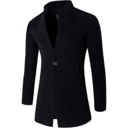 Autumn and Winter New Woolen Coat Fashion Men'S Long Self-Cultivation Cardigan Jacket 1204-F102
