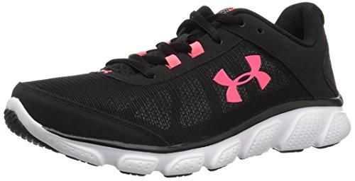 Under Armour Women's Micro G Assert 7 Running Shoe, Black, 9.5