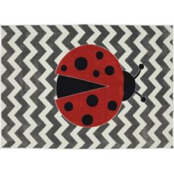 Mohawk® Home Little Ladybug Rug – 5′ x 8′, Grey