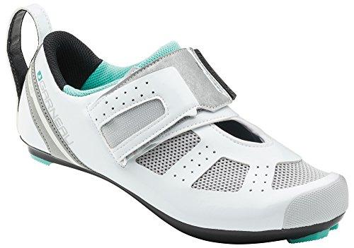 Louis Garneau – Women's Tri X-Speed 3 Triathlon Bike Shoes, White/Mojito, US (8), EU (39)