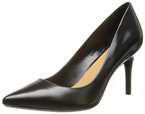 Calvin Klein Women's Gayle Pump, Black Leather – 8 B(M) US