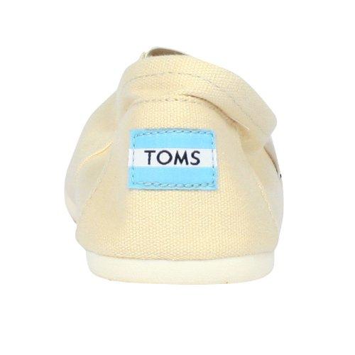 TOMS Men's Classic Canvas Slip-On, Light Beige – 11.5 D(M) US