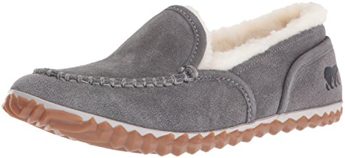 SOREL Women's Tremblant Moc Slipper, Grey, 5.5 D US