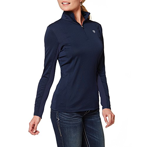 Ariat Women's Sunstopper 1/4 Zip Pullover, Navy, X-Large