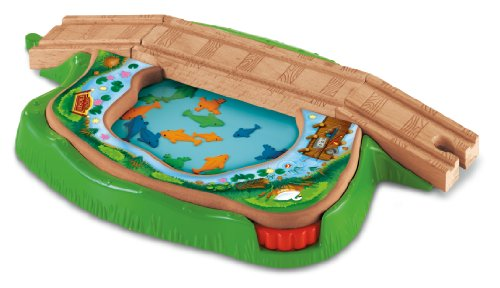 Thomas & Friends Fisher-Price Wooden Railway, Spin and Swim Lily Pond