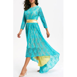 Lace High Low Formal Party Dress