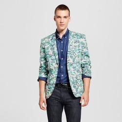Wd·ny Black – Men's Floral Blazer – Pink/Green S, Multicolored