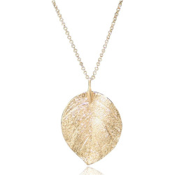 Women'S New Fashion Gold Leaf Solid Necklaces