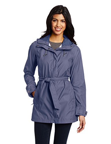 Columbia Women's Pardon My Trench Rain Jacket Outerwear, Nocturnal, L