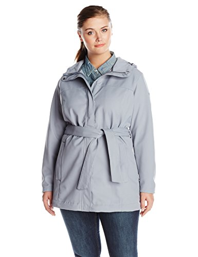 Columbia Women's Plus-Size Take To The Streets Trench Plus, Tradewinds Grey, 1X