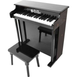 schoenhut 37 key traditional deluxe spinet toy piano black - Schoenhut 37-Key Traditional Deluxe Spinet Toy Piano, Black