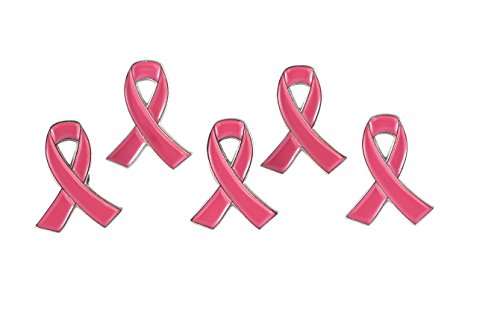 Official Pink Ribbon Breast Cancer Awareness Lapel Pin (10 Pins)
